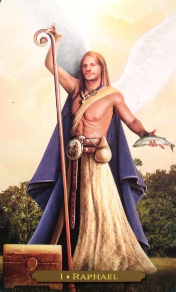 Raphael, from the Oracle Of The Angels Oracle Card deck, by Richard Webster