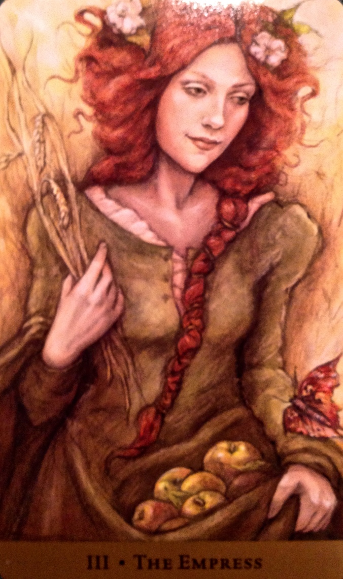 The Empress, from the Tarot of the Hidden Realm, by Julia Jeffrey and Barbara Moore