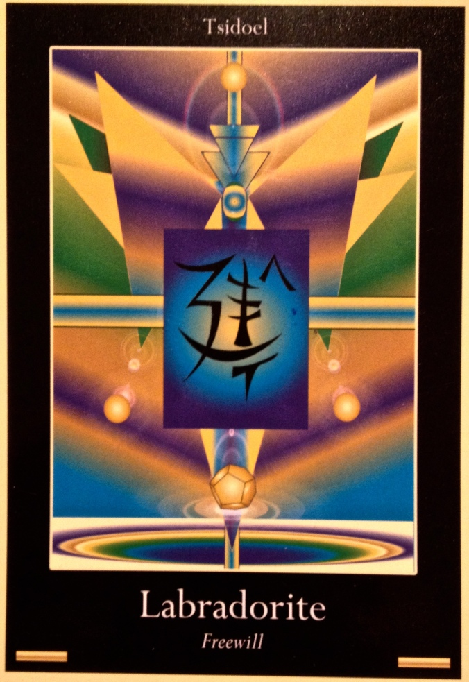 Tsidoel ~ Labradorite, from the Liquid Crystal Oracle Card deck, by Justin Moikeha Asar