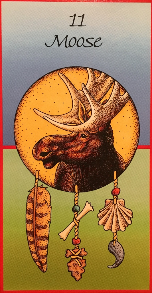 Moose, from the Medicine Cards, by Jamie Sams and David Carson