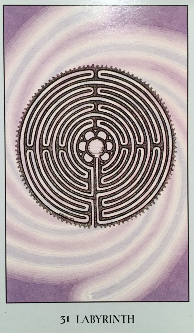 Labyrinth ~ Spiritual Path, from the Sacred Geometry Oracle Card deck, by Francene Hart
