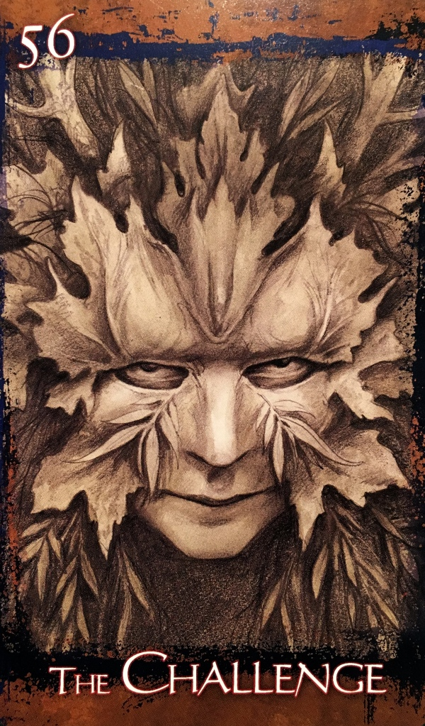The Challenge, from the Heart Of Faerie Oracle Card deck, by Brian and Wendy Froud