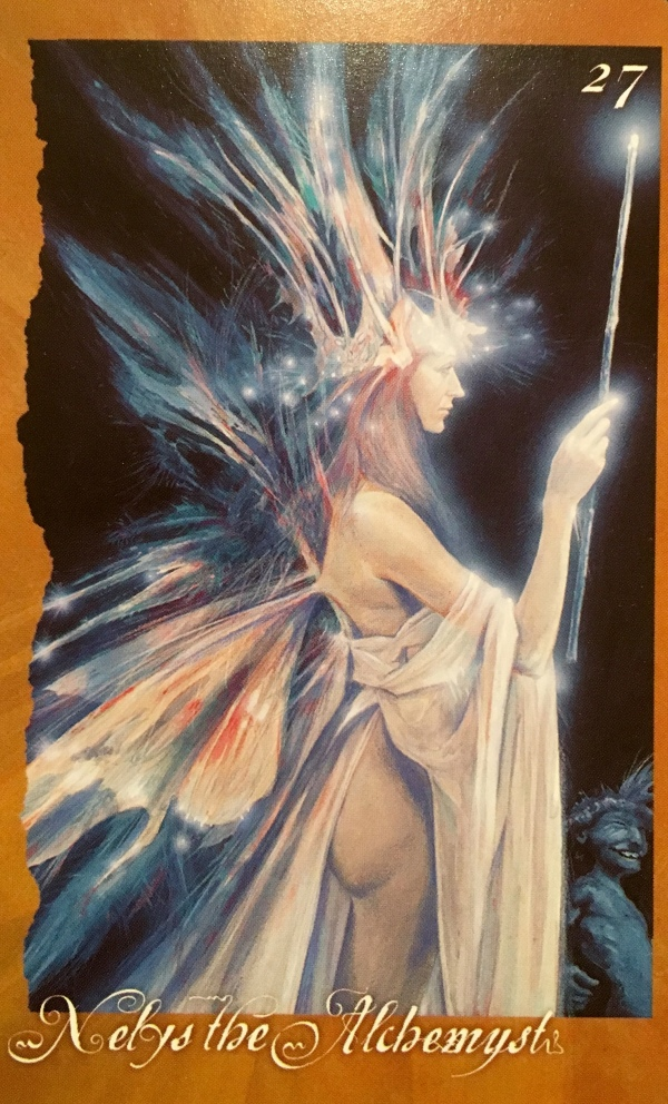 Nelys The Alchemyst, from The Faerie Oracle card deck, by Brian Froud and Jessica MacBeth