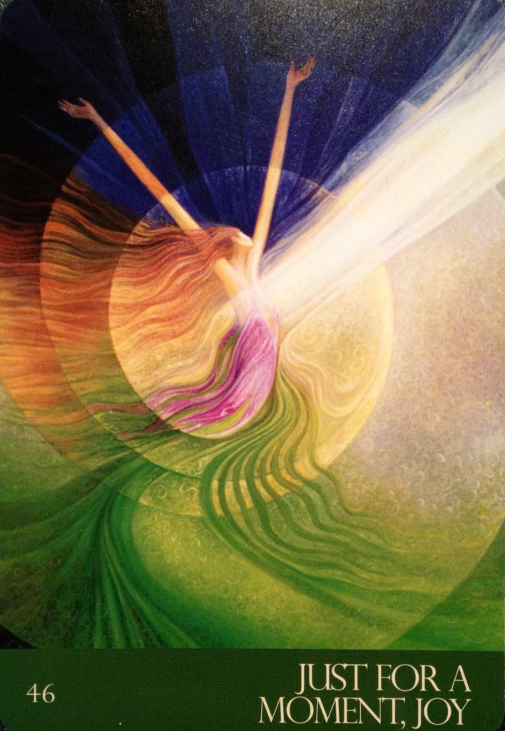 Just For A Moment, Joy, from the Journey Of Love Oracle Card deck, by Alana Fairchild, Artwork by Rassouli and Richard Cohn