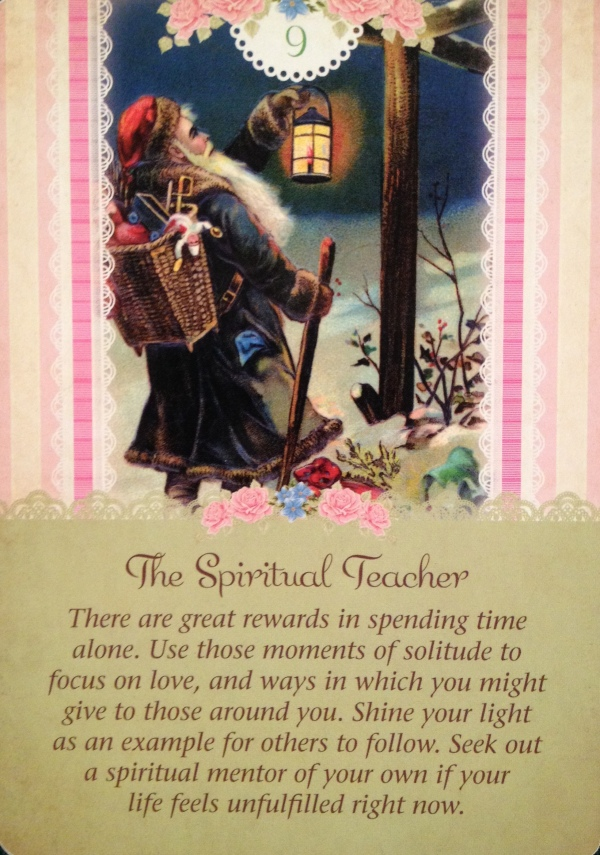 The Spiritual Teacher, from the Guardian Angel Tarot Card deck, by Doreen Virtue Ph.D and Radleigh Valentine