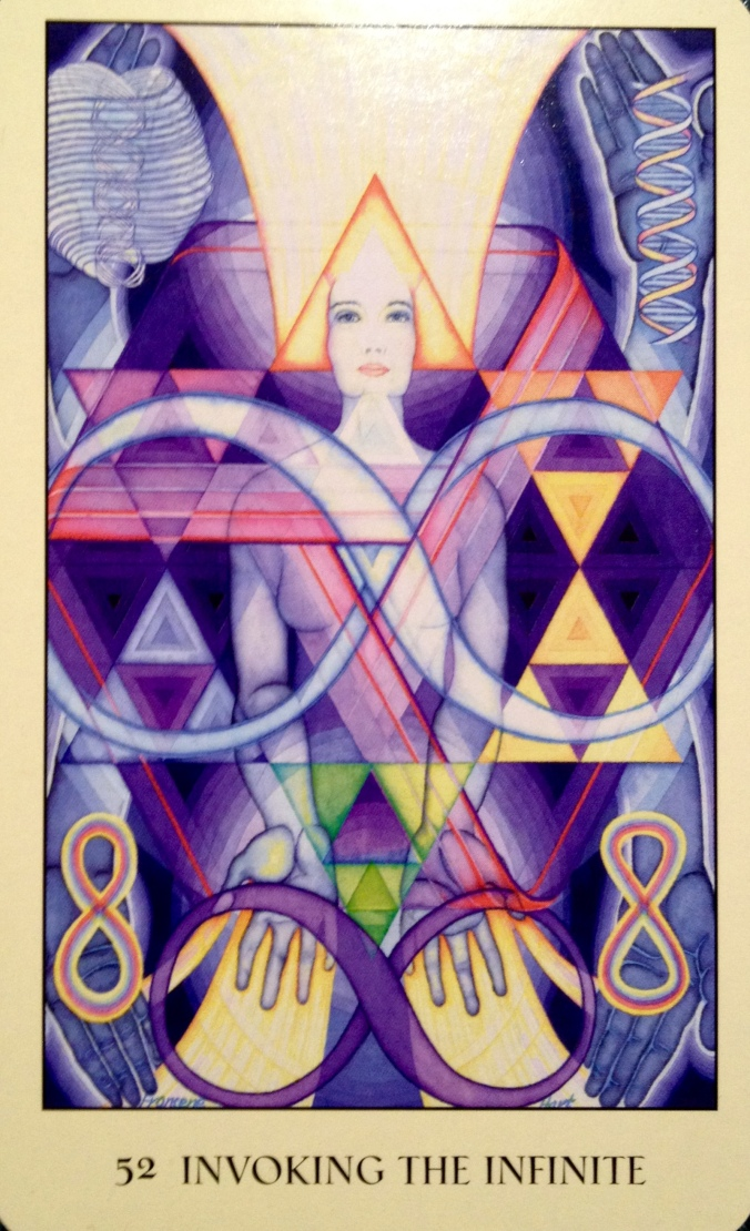 Invoking The Infinite, from the Sacred Geometry Oracle Card deck, by Francene Hart