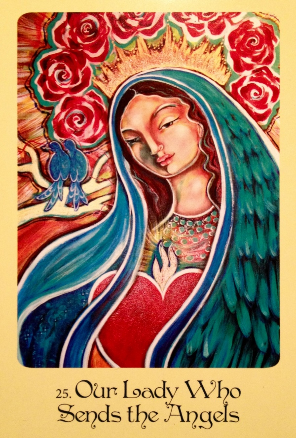 Our Lady Who Sends The Angels, from the Mother Mary Oracle By Alana Fairchild, Artwork by Sophia MccLoud