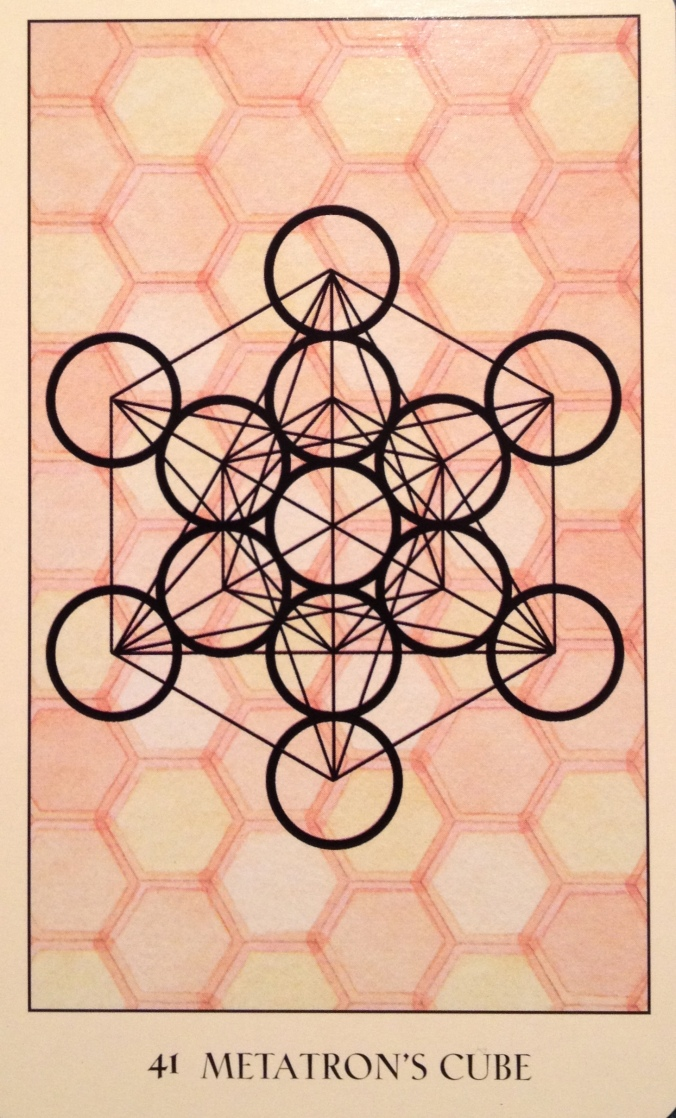 Metatron's Cube, from the Sacred Geometry Oracle Card deck, by Francene Hart
