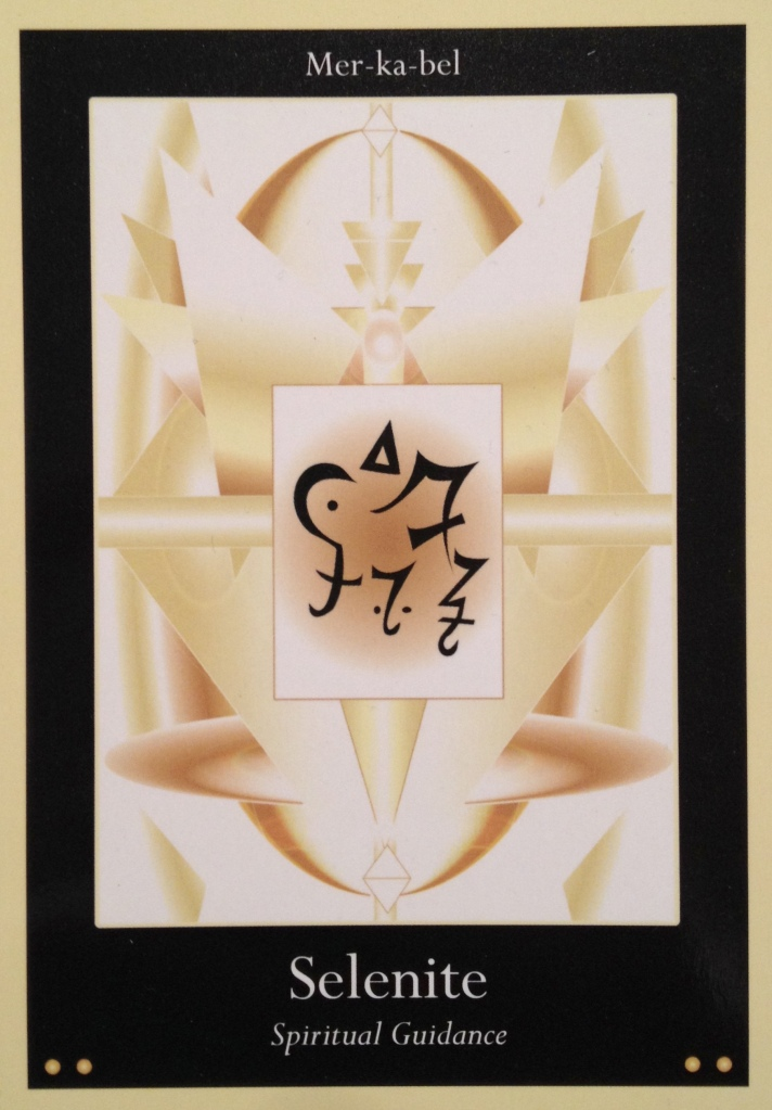Selenite ~ Spiritual Guidance, from the Liquid Crystal Oracle Card deck, by Justin Moikeha Asar
