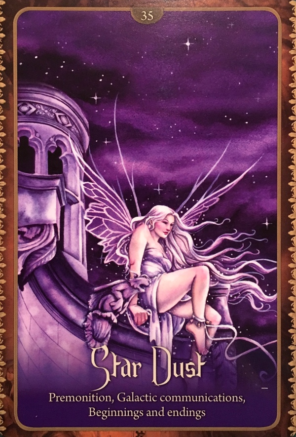 Star Dust, from the Wild Wisdom Or the Faery Oracle Card deck, by Lucy Cavendish, artwork by Selina Fenech