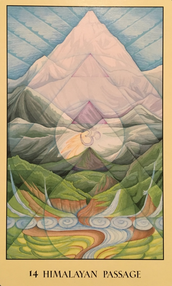 Himalayan Passage, from the Sacred Geometry Oracle Card deck, by Francene Hart