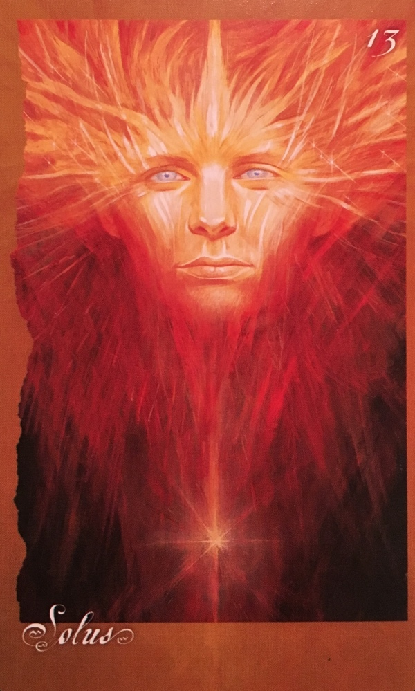 Solus, from the Faery Oracle Card deck, by Brian Froud and Jessica MacBeth
