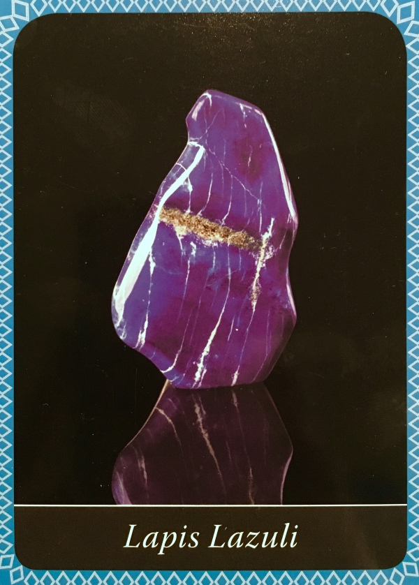 Lapis Lazuli, from the Crystal Wisdom Oracle Card deck, by Judy Hall