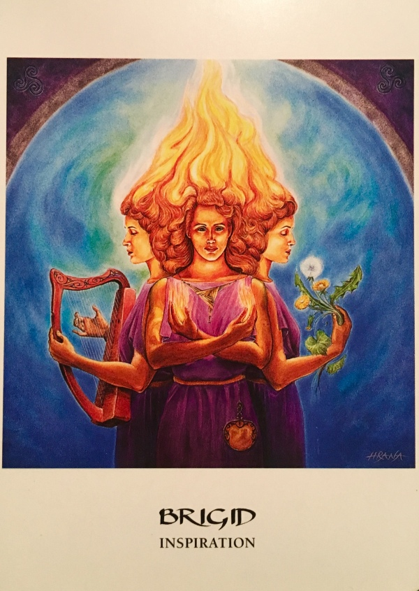 Brigid ~ Inspiration, from the Goddess Oracle Card deck, by Amy Sophia Marashinsky, Illustrated by Hrana Janto