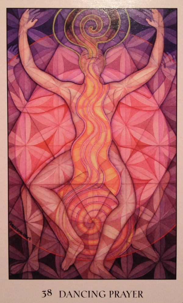 Dancing Prayer, from the Sacred Geometry Oracle Card deck, by Francene Hart