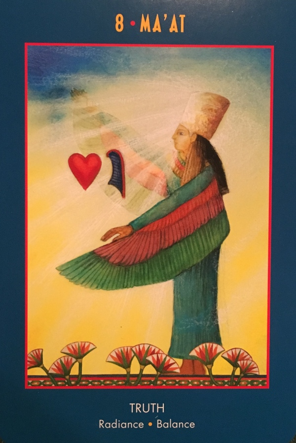 MA'AT ~ Truth, from the Anubis Oracle Card deck, by Nicki Skully and Linda Star Wolf