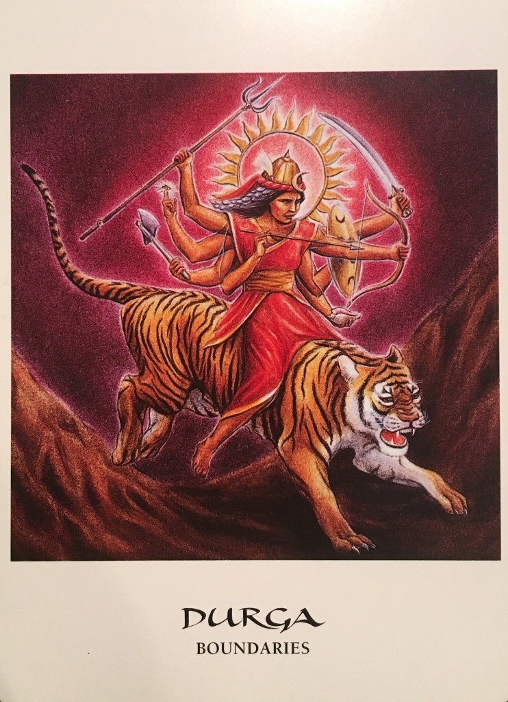 Durga ~ Boundaries, from the Goddess Oracle Card deck, by Amy Sophia Marashinsky and Hrana Janto