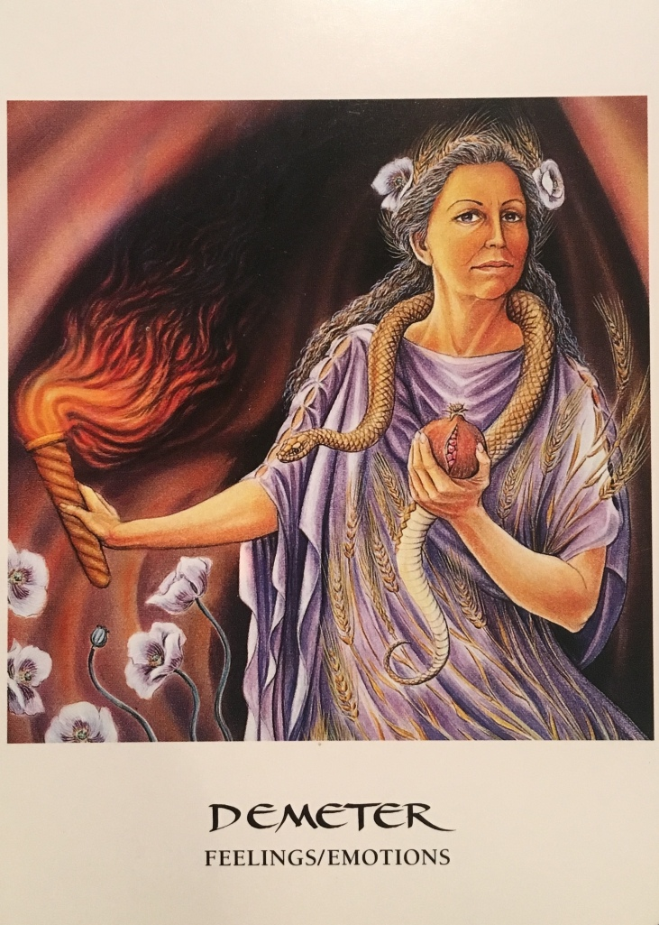 Demeter, from the Goddess Oracle Card deck, by Amy Sophia Marashinsky and Hrana Janto