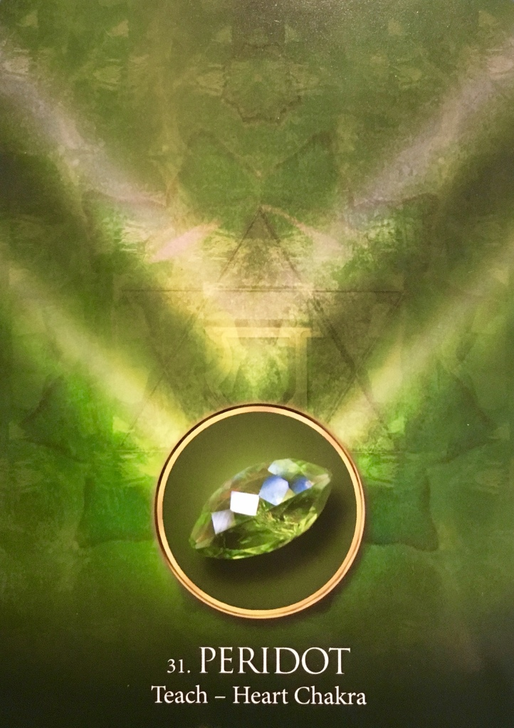Peridot, from the Eternal Crystals Oracle Card deck, by Jade-Sky