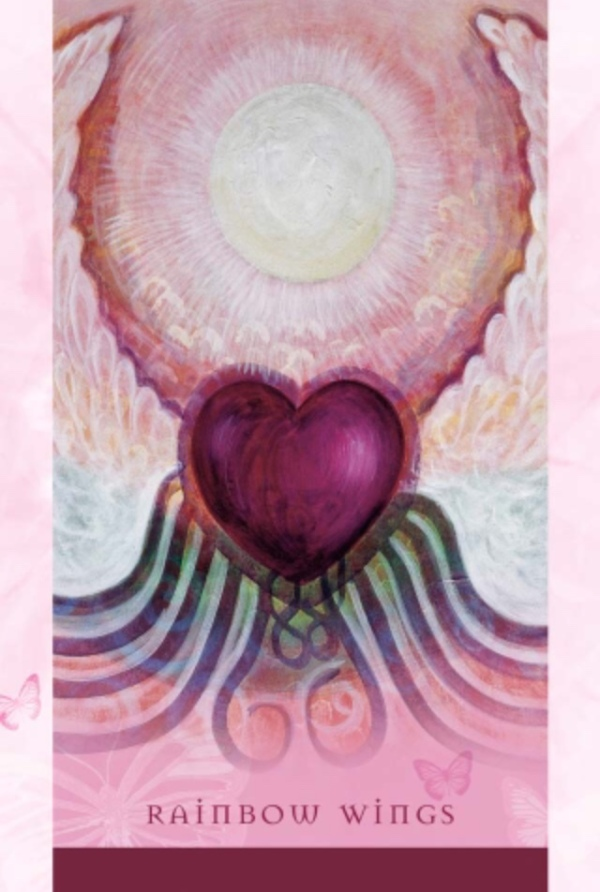 Rainbow Wings, from the Universal Wisdom Oracle Card deck, by Toni Carmine Salerno