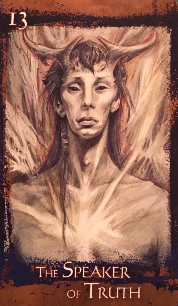 The Speaker Of Truth, from the Heart Of Faerie Oracle Card deck, by  Brian and Wendy Froud