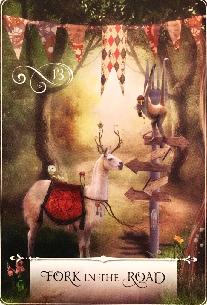 Fork In The Road, from the Wisdom Of The Oracle card deck, by Colette Baron-Reid