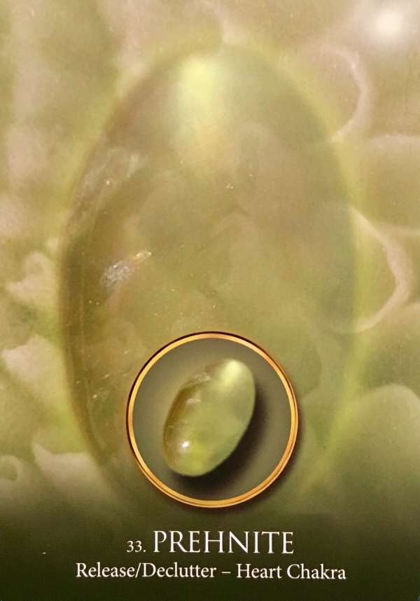 Prehnite, from the Eternal Crystals Oracle Card deck, by Jade-Sky