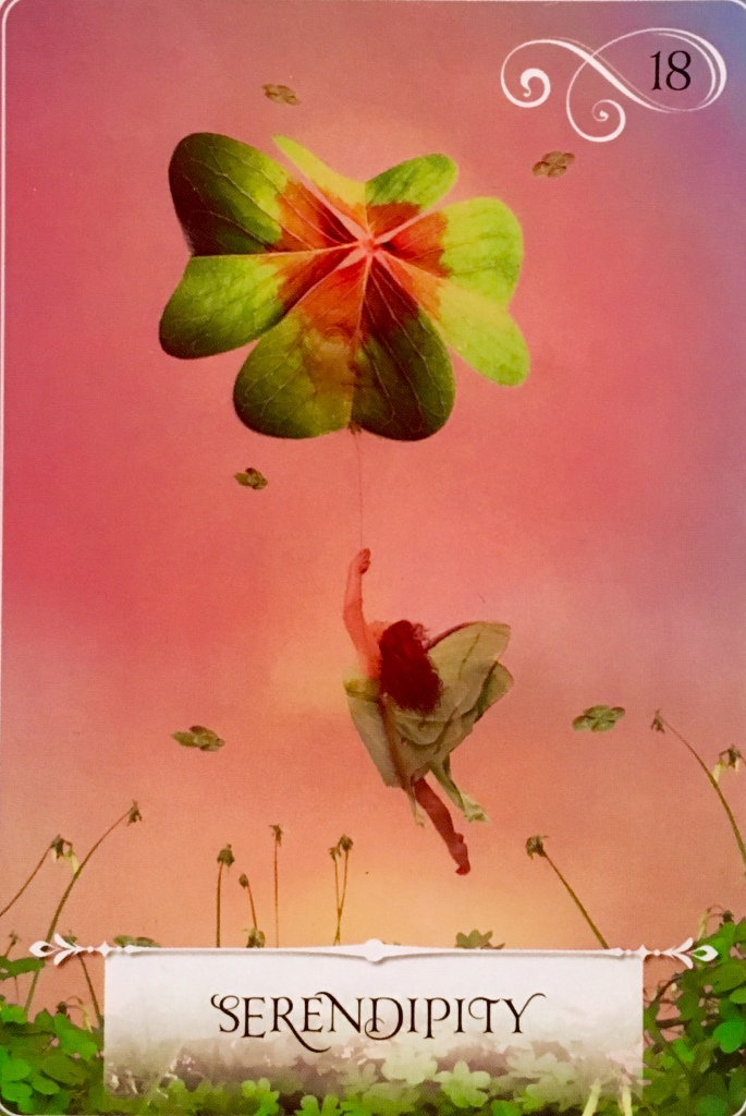 Serendipity, from the Wisdom Of The Oracle Card deck, by Colette Baron-Reid