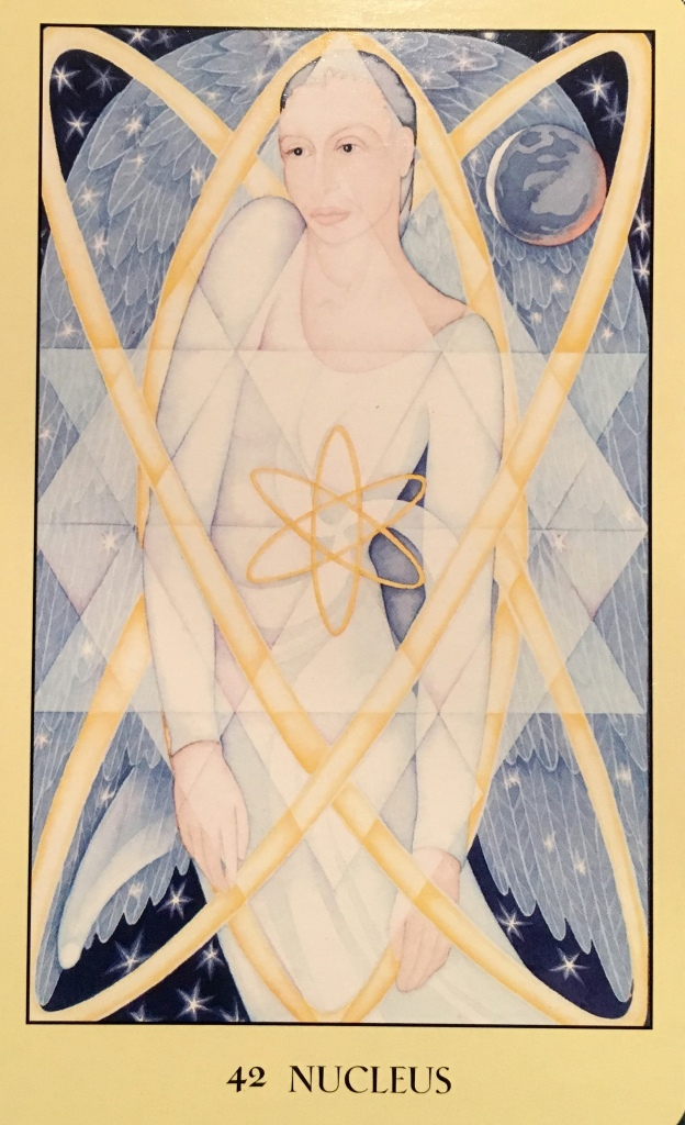 Nucleus, from the Sacred Geometry Oracle Card deck, by Francene Hart