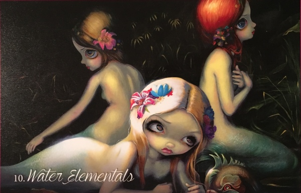 Water Elementals, from the Myths and Mermaids Oracle Card deck, by Jasmine Becket-Griffith, Amber Logan and Kachina Mickelettto