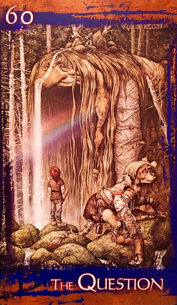 The Question, from the Heart Of Faerie Oracle Card deck, by Brian and Wendy Froud