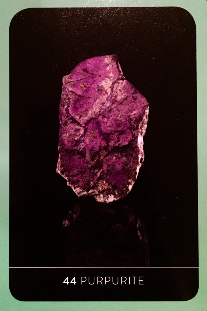 Purpurite, from the *NEW* and revised Crystal Wisdom Healing Oracle, by Judy Hall