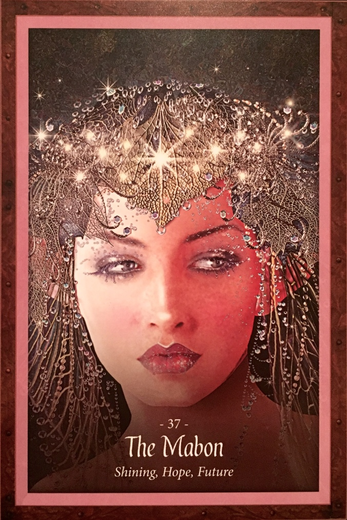 The Mabon, from the Faery Forest Oracle Card deck, by Lucy Cavendish, Artwork by Maxine Gadd