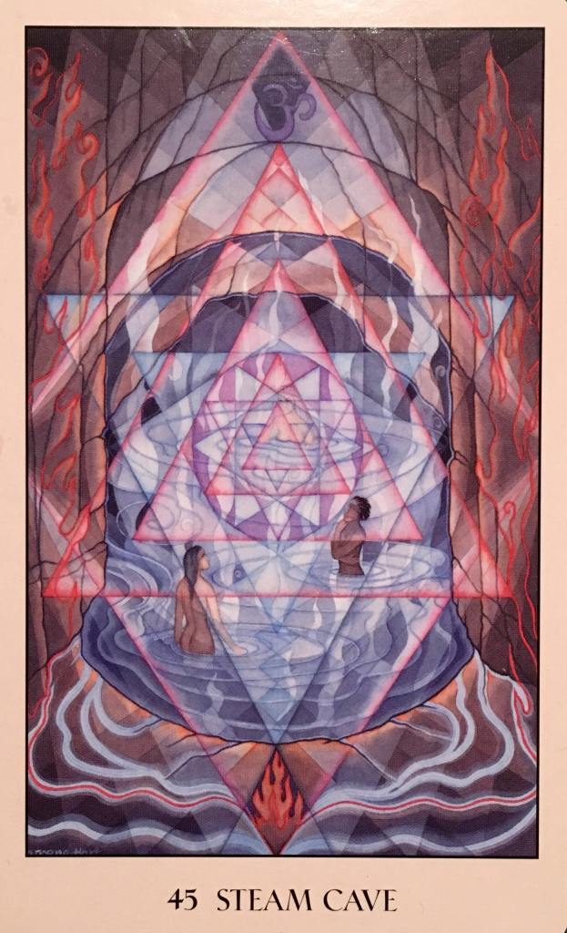 Steam Cave, from the Sacred Geometry Oracle Card deck, by Francene Hart