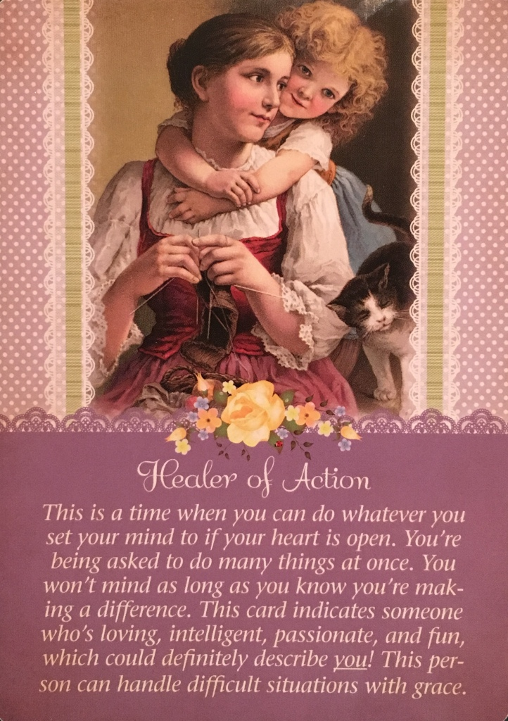 Healer Of Action, from the Guardian Angel Tarot Card deck, by Doreen Virtue Ph.D and Radleigh Valentine