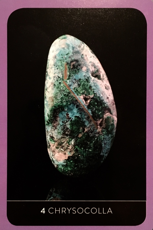 Chrysocolla ~ Self Love, from the New and Revised Crystal Wisdom Healing Oracle, by Judy Hall