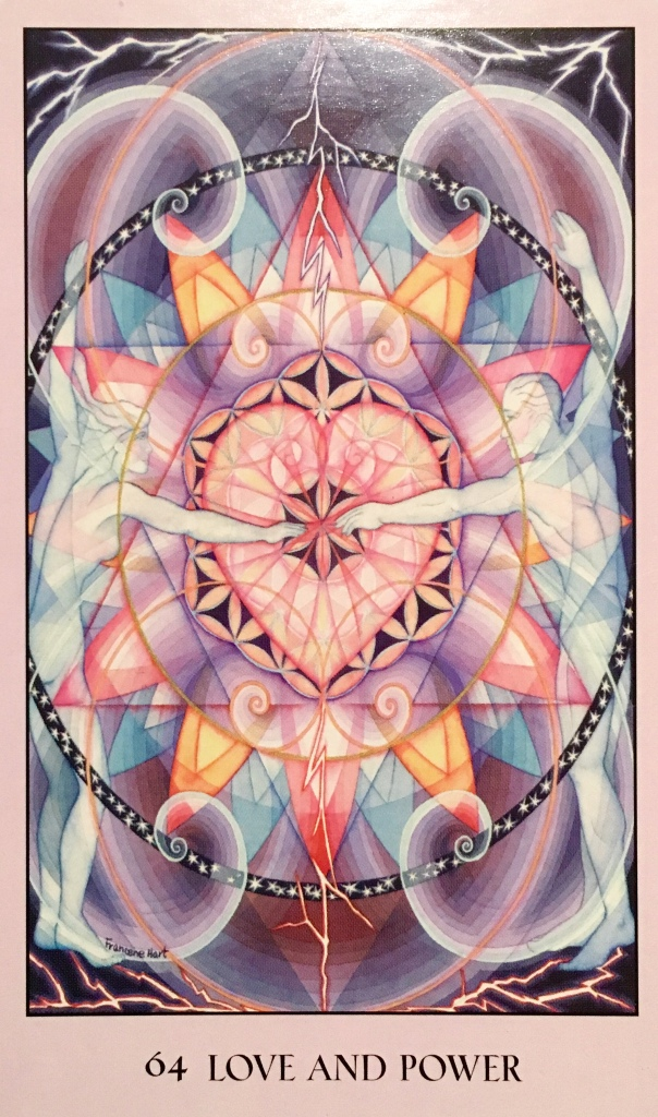 Love And Power, from the Sacred Geometry Oracle Card deck, by Francene Hart