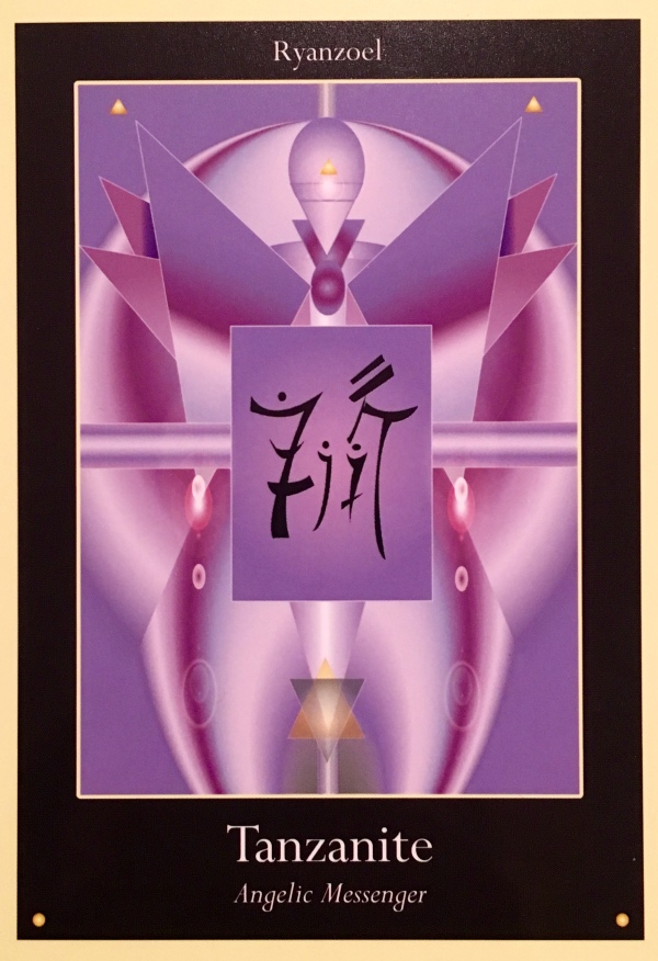 Tanzanite, from the Liquid Crystal Oracle Card Deck, by Justin Moikeha Asar
