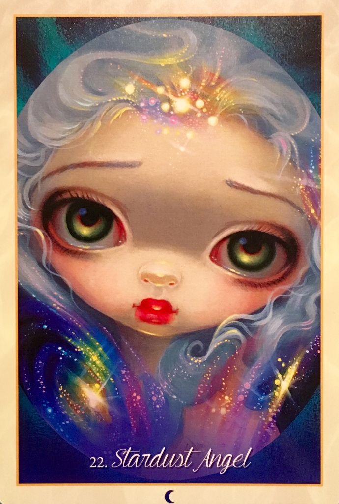 Stardust Angel, from the Myths And Mermaids Oracle Card deck, by Jasmine Becket-Griffith with Amber Logan and Kachina Mickeletto