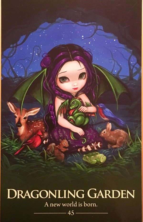 Dragonling Garden, from the Oracle Of The Shapeshifters, by Lucy Cavendish Artwork by Jasmine Becket-Griffith