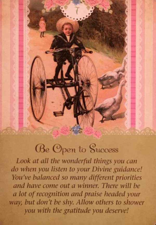 Be Open To Success, from the Guardian Angel Tarot Card deck, by Doreen Virtue Ph.D and Radleigh Valentine