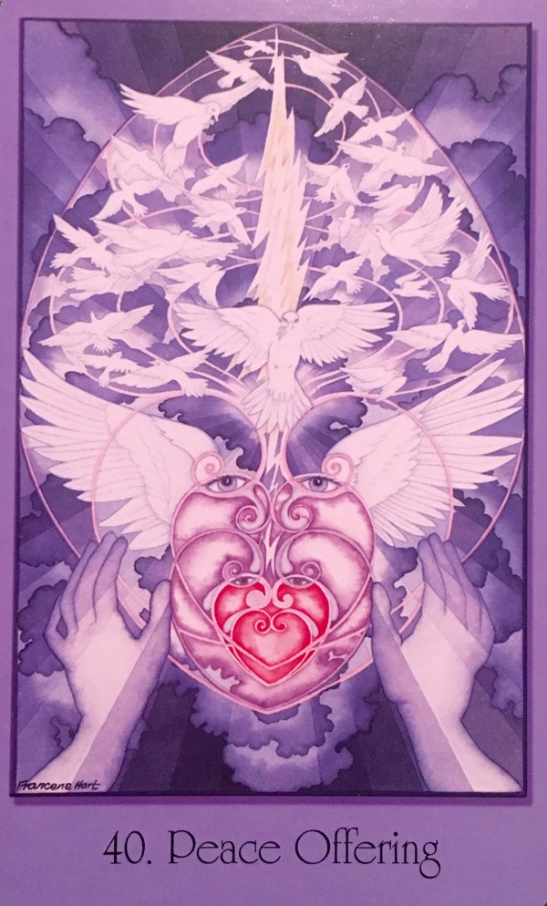 Peace Offering, from the Sacred Geometry For The Visionary Path Oracle Card deck, by Francene Hart