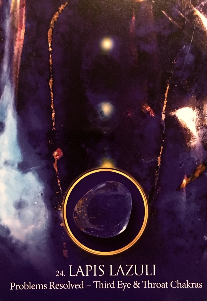 Lapis Lazuli, from the Eternal Crystal Oracle Card deck, by Jade-Sky