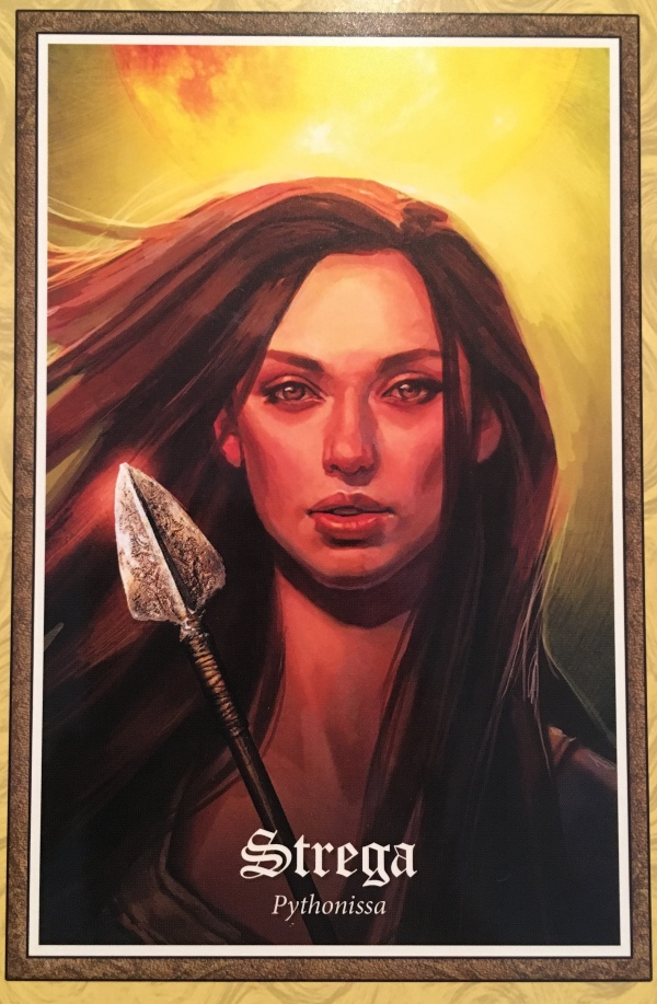 Strega, from The Gospel Of Aradia Oracle Card deck, by Stacey Demarco, Artwork by Jimmy Manton