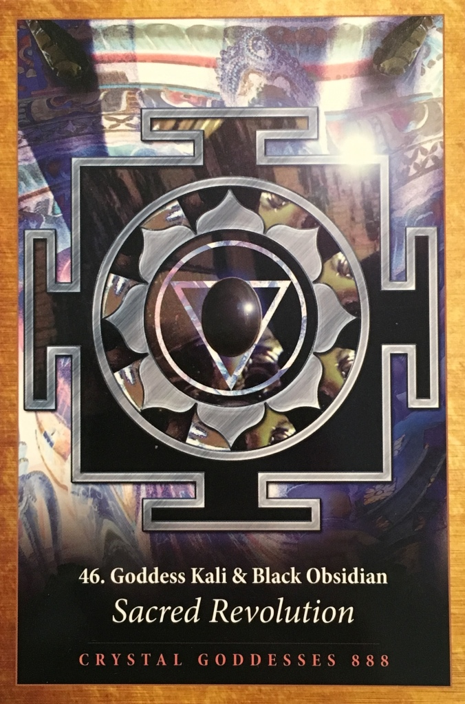 Goddess Kali And Black Obsidian, from the Crystal Mandala Oracle Card deck, by Alana Fairchild, artwork by Jane Marin