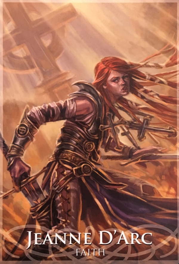 Jeanne D'Arc, from the Goddesses and Sirens Oracle Card deck, by Stacey Demarco, artwork by Jimmy Manton