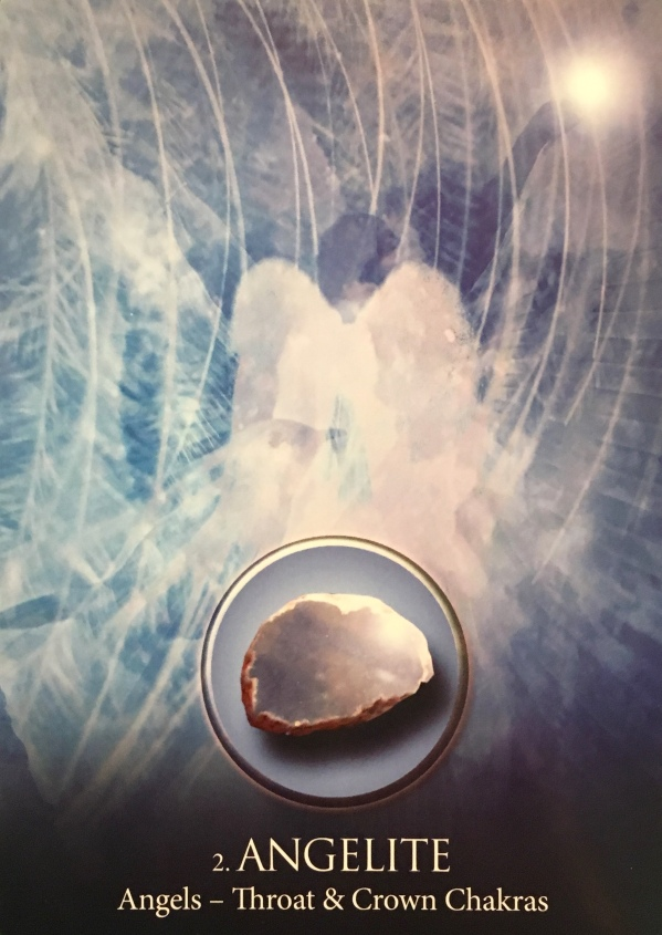 Angelite ~ Angels, from the Eternal Crystals Oracle Card deck, by Jade-Sky