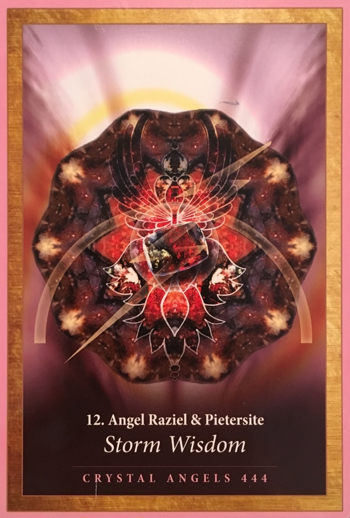 Angel Raziel and Pietersite, from the Crystal Mandala Oracle Card deck, by Alana Fairchild, artwork by Jane Marin
