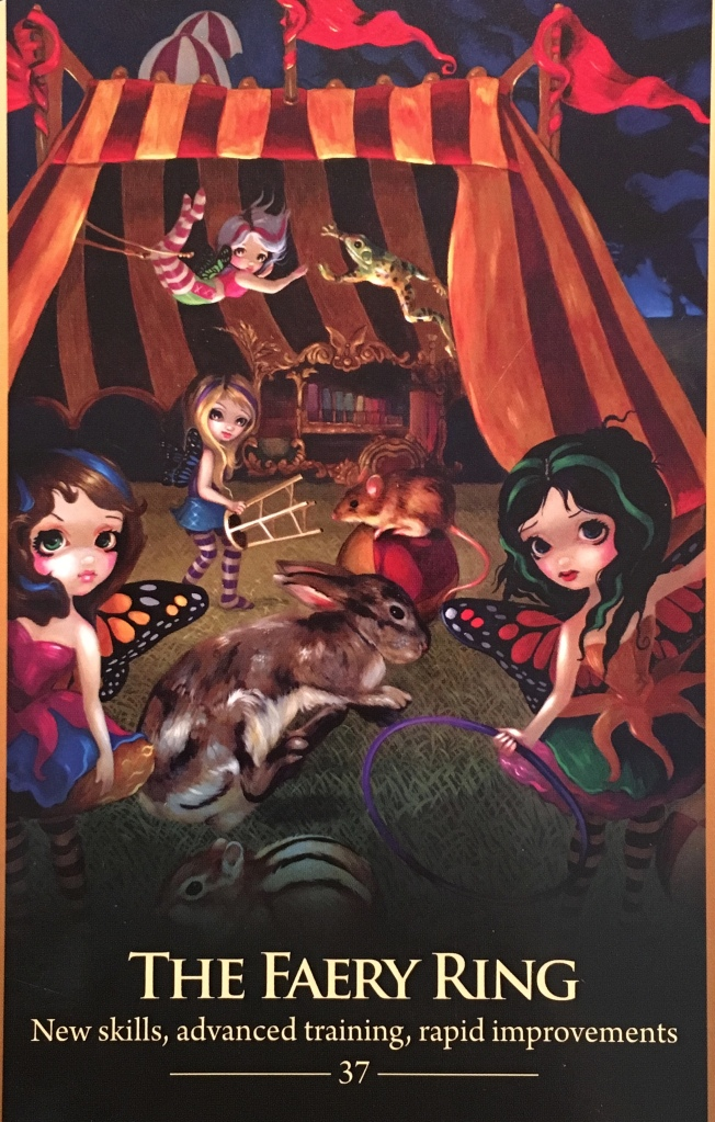 The Faery Ring, from the Oracle Of The Shapeshifters, by Lucy Cavendish, artwork by Jasmine Becket-Griffith