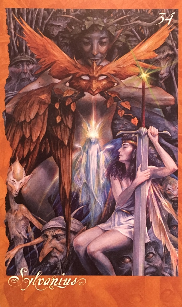 Sylvanius, from The Faeries' Oracle, by Brian Froud and Jessica MacBeth